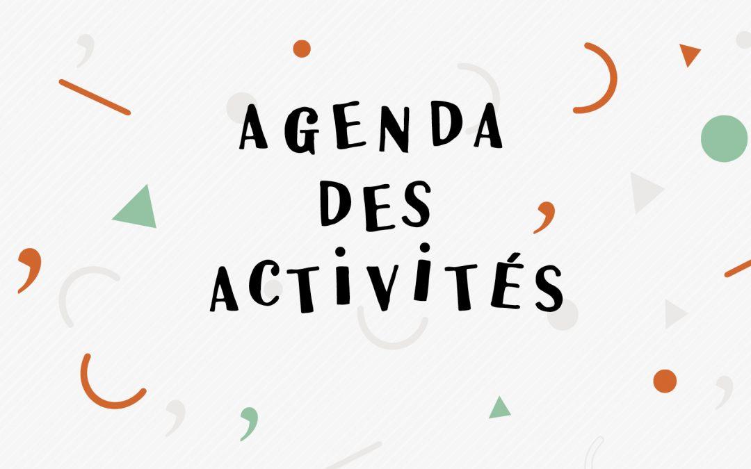 Les activités d'octobre