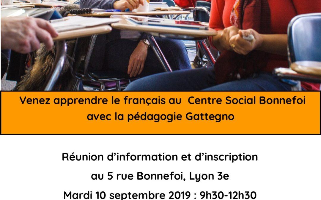 Inscriptions pour les ateliers de français